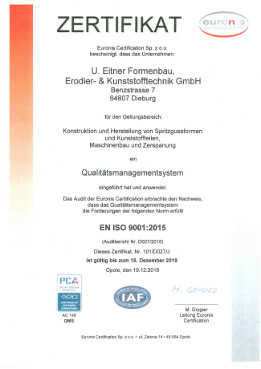 Quality management system EN ISO 9001:2008